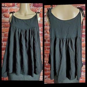 Indah Black Sleeveless Top Size Large